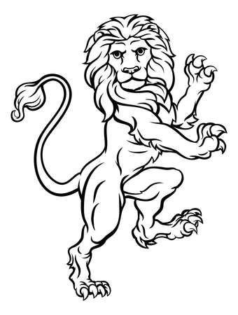 Lion illustration. Vettoriali