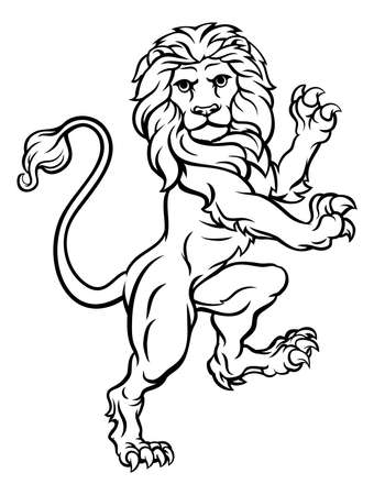 Lion illustration. Stock Illustratie
