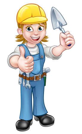 Construction worker illustration. Vectores
