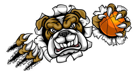 Bulldog Basketbal Sportmascotte