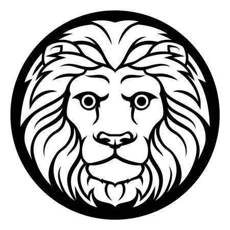 Leo Lion Horoscope Astrology Zodiac Sign Symbol Royalty Free