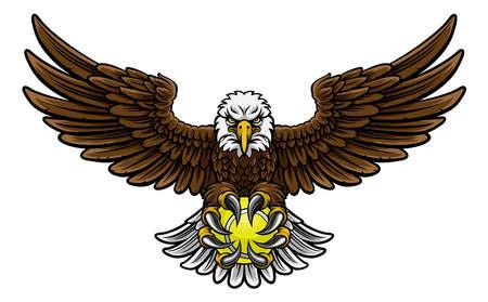 Eagle Tennis Sport Mascotte