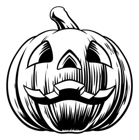 Halloween Pumpkin Illustration
