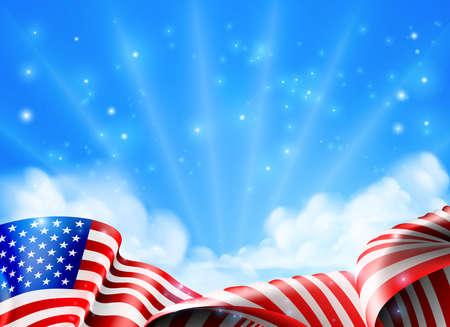 Una bandiera americana di design politico o patriottico