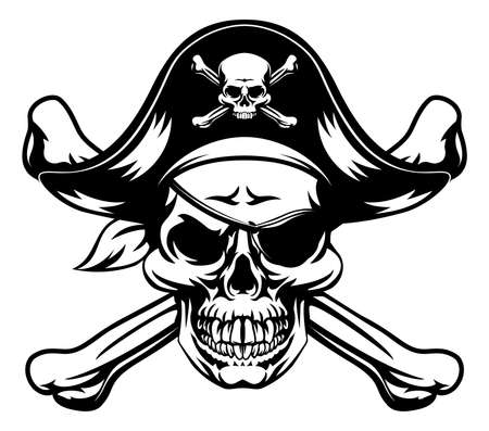 Pirate Skull and Crossbones Banque d'images - 87122494