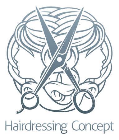 Hair Salon Stylist Kapper Concept