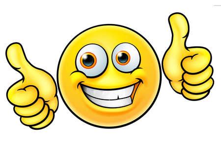 Wszystkiego najlepszego z okazji Kciuki emoticon emoji na białym tle. Ilustracje wektorowe