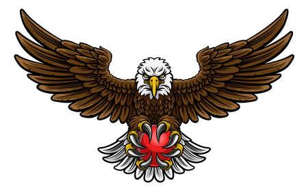 Eagle cricket sports mascot on white background.