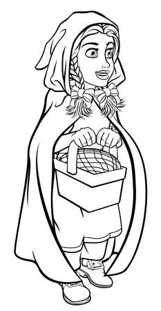 Little Red Riding Hood Fairy Tale Cartoon