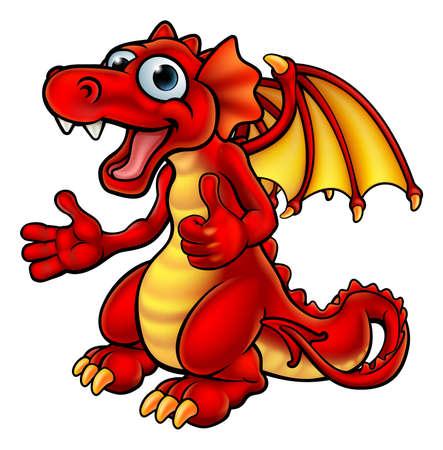 Cartoon Thumbs Up Dragon