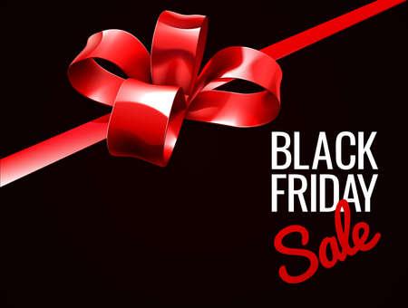 Black Friday Sale Gift Bow Design Zdjęcie Seryjne - 87888200