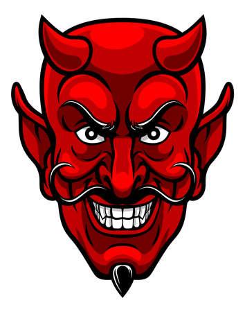 悪魔のスポーツ マスコット。