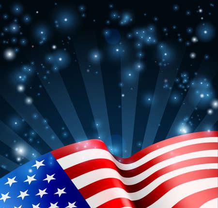 American Flag Design Background 일러스트
