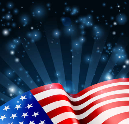 American Flag Design Background Vettoriali