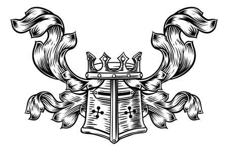 Helmet Heraldic Crest Stock Vector - 88084756