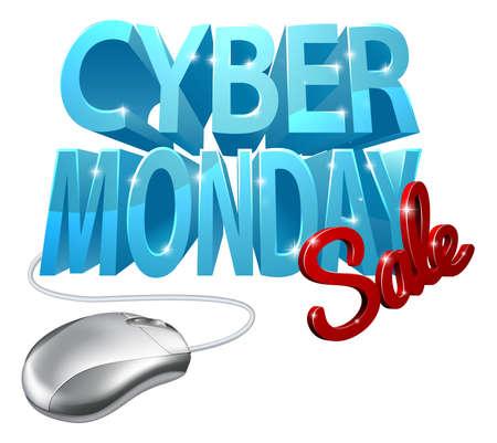 Cyber ??Monday Sale Computer Mouse Sign Foto de archivo - 88187748
