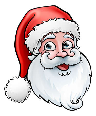Santa Claus Christmas Cartoon Ilustrace