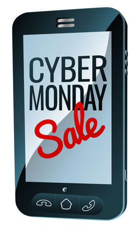 Cyber Monday Sale Mobile Phone Sign