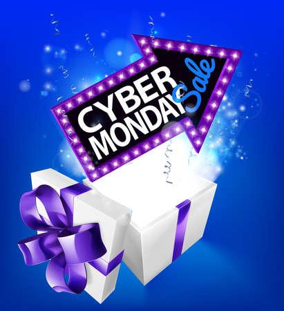 Cyber Monday s ale concept.