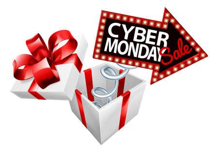 Cyber ??Monday Black Friday Vendita Segno Vettoriali