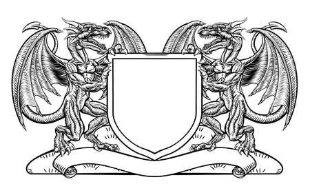 Dragon Heraldry Crest wapen schild embleem