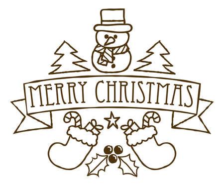 Merry Christmas Greetings Festive Design
