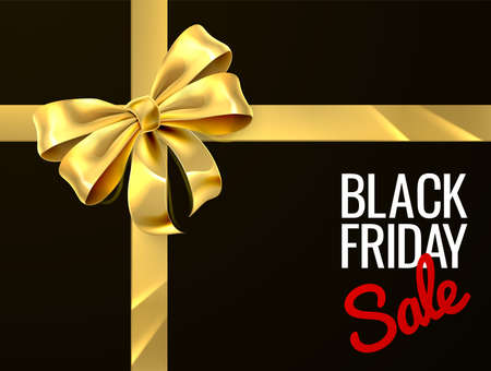 Black Friday Sale Gift Bow Ribbon Design Stock fotó - 88767955
