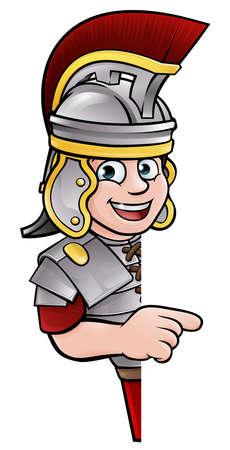 Roman Soldier Pointing Vetores