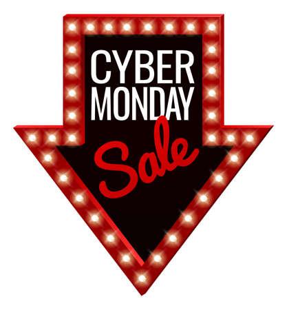 Cyber ??Monday Sale Arrow Sign Foto de archivo - 88891083