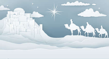 Wise Men Nativity Christmas Concept Illustration