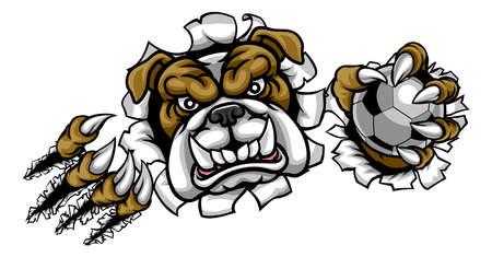 Bulldog Soccer Football Mascot