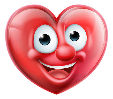 Heart Man Cartoon Character