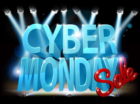 Cyber Monday Sale Stage Sign Illustration