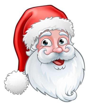 Natale Babbo Natale Cartoon Vettoriali