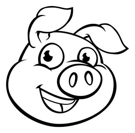 Kreskówka maskotka świnia
