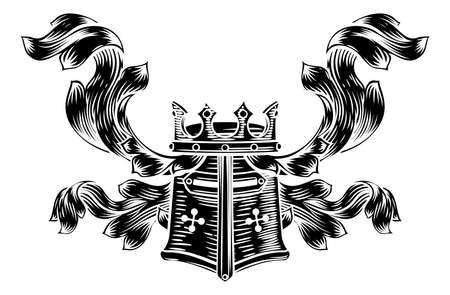 Helmet Coat of Arms Heraldic Crest
