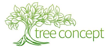 Tree Concept Icon 일러스트