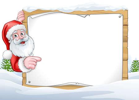 サンタ クロース クリスマス サインの背景