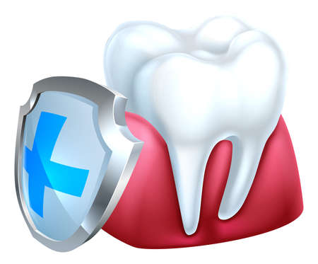 Gum Tooth and Shield Icon