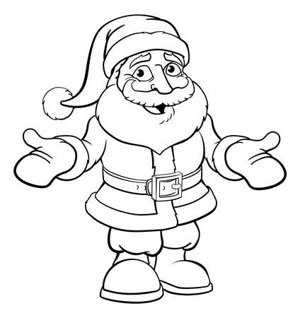 Ilustração do vetor de Papai Noel.