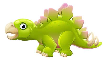 Cute Stegosaurus Cartoon Dinosaur