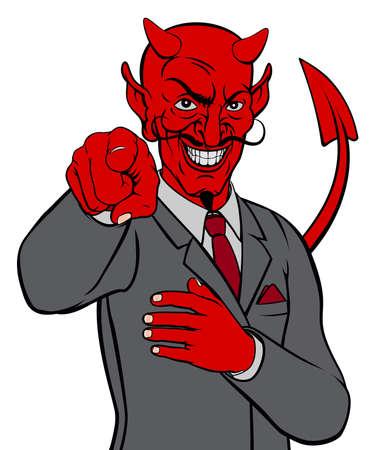 Devil Business Man Illustration