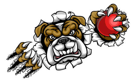 Bulldog Cricket Sports Mascot