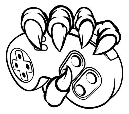 Monster or Animal Claws Holding Game Controller