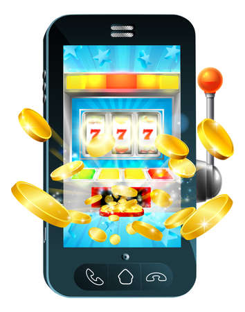 Fruit Machine Mobile Phone Concept Фото со стока - 90874039