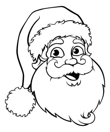 Santa Claus cartoon character Christmas