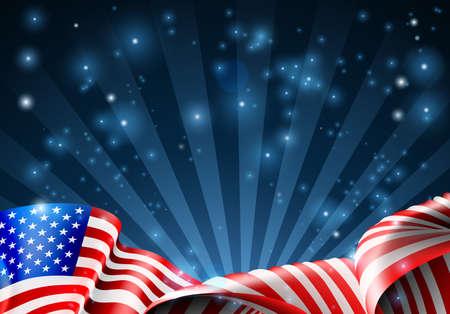 Bandera americana patriótica o diseño político.
