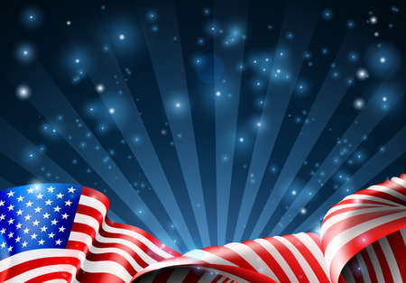 drapeau américain patriotique ou conception politique