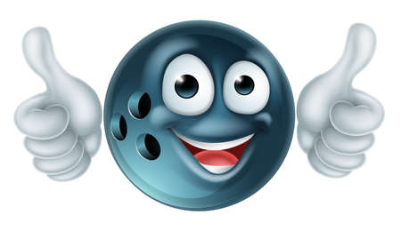 Cartoon Bowling Ball Character Reklamní fotografie - 91657573