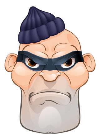 도둑 또는 도둑 형사 만화 캐릭터